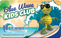 Blue Wave Orthodontics Kids Club card rye ny darien ct